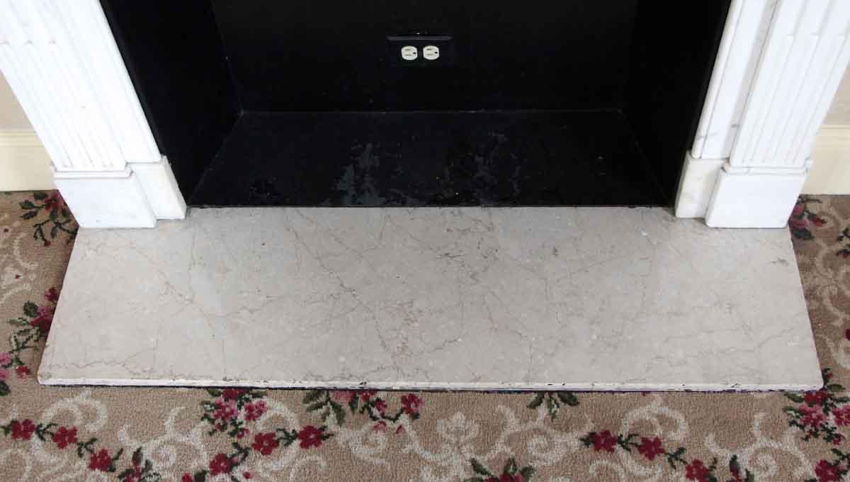 Salvaged Waldorf White Statuary Carrara Marble Mantel Olde Good