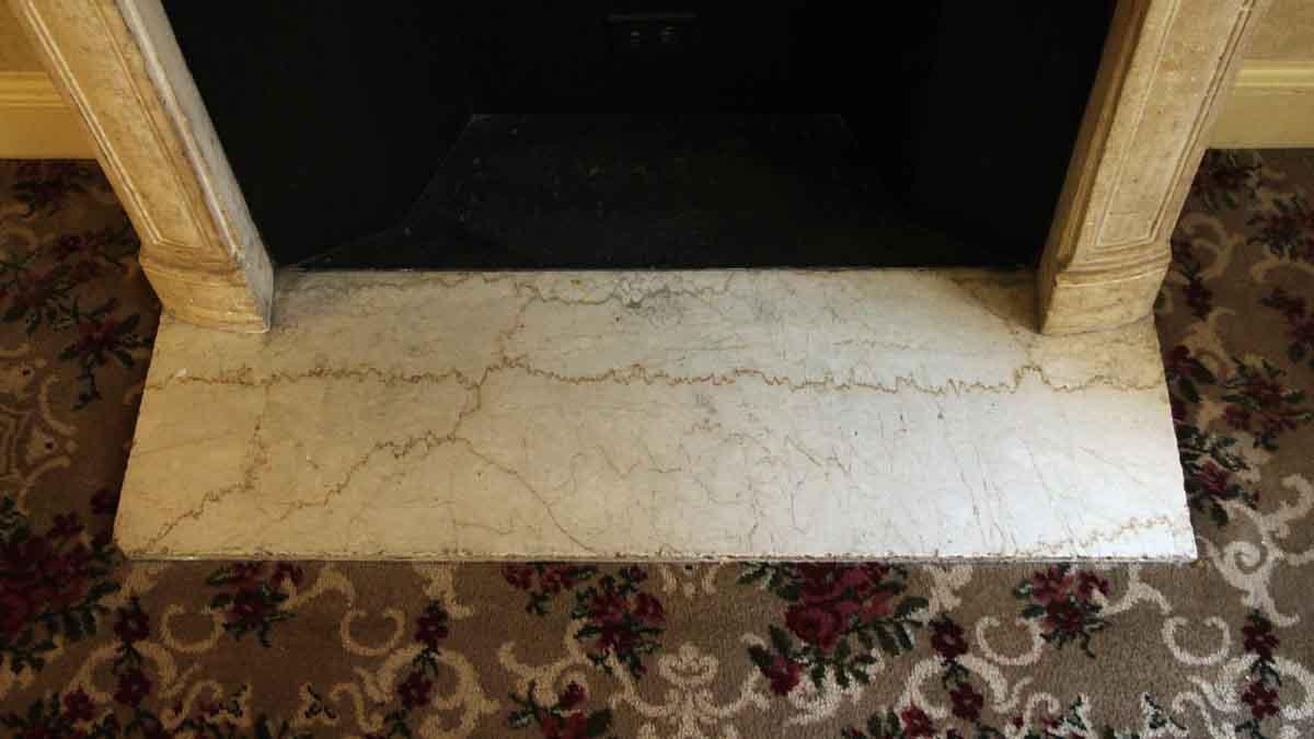 Salvaged Waldorf Limestone Louis Xv French Fireplace Mantel Olde
