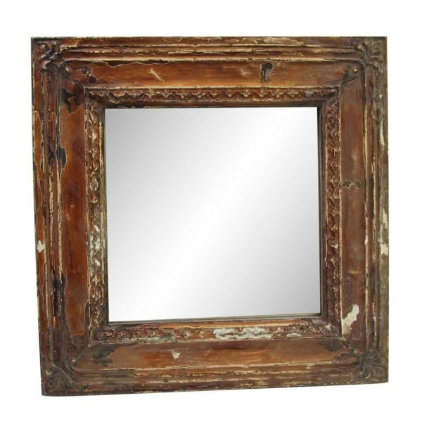 Antique Tin Mirrors - Warm Brown Cove Antique Tin Mirror