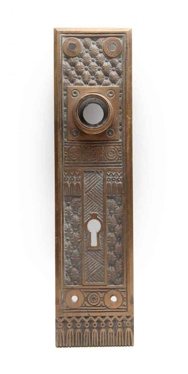 Back Plates - Aesthetic Bronze Field Design Door Plate with Keyhole