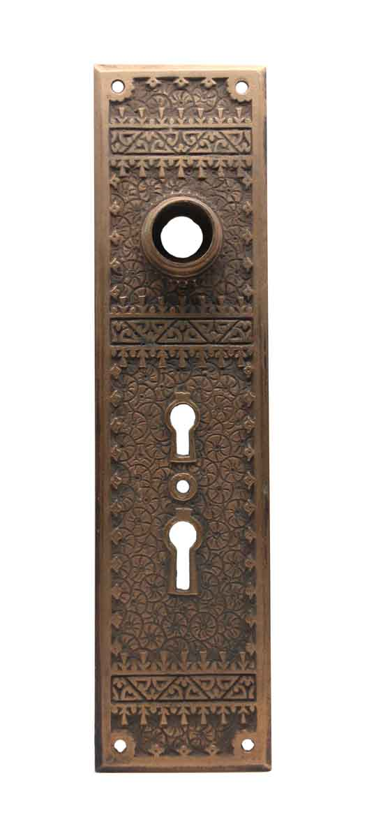 Back Plates - Antique Aesthetic Bronze Double Keyhole Back Plate