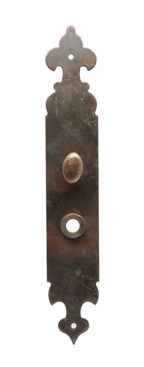 Back Plates - Antique Colonial Bronze Back Plate with Turn Latch