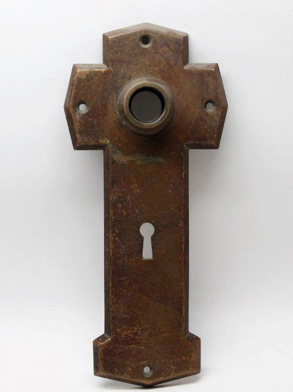Back Plates - Bronze Cross Shaped Back Plate