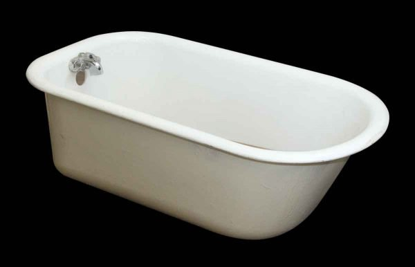 Bathroom - Antique Cast Iron White Claw Foot Bathtub
