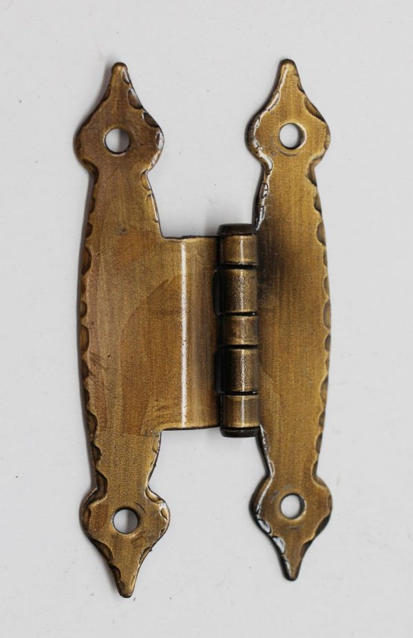Cabinet & Furniture Hinges - Colonial Cabinet Surface Hinge with Brass Patina