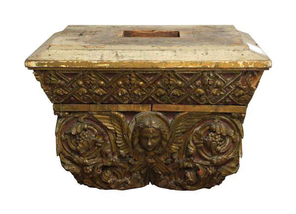 Columns & Pilasters - Rare Wood Decorative Cherubic Capitals