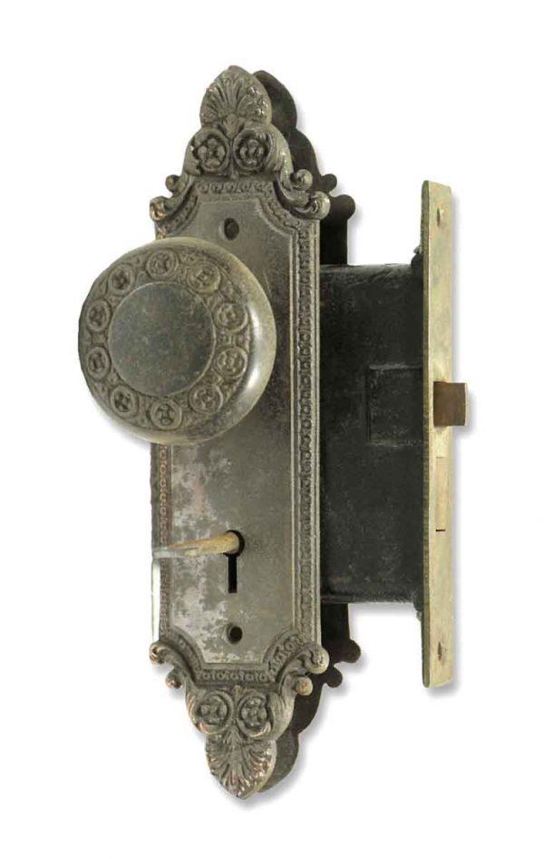 Door Knob Sets - Antique Barrows Bronze Complete Door Knob & Lock Set