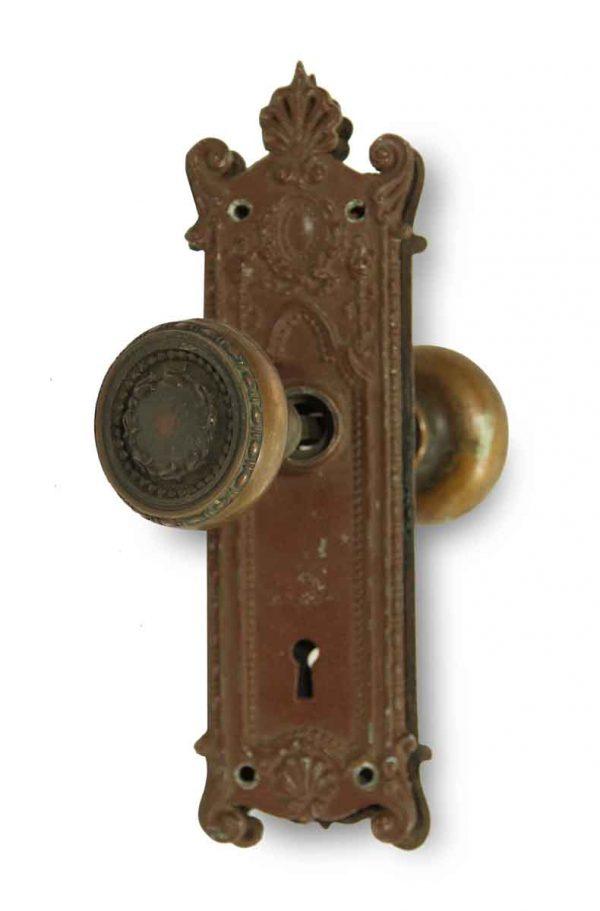 Door Knob Sets - Antique Concentric Bronze Door Entry Set