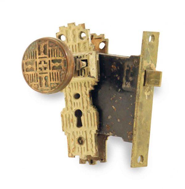 Door Knob Sets - Antique Gilbert Vernacular Door Knob Set