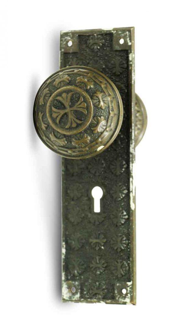 Door Knob Sets - Antique Nashua Entry Door Knob Set