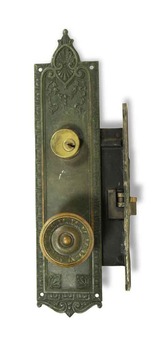 Door Knob Sets - Antique Neoclassical Corbin Entry Door Knob & Lock Set