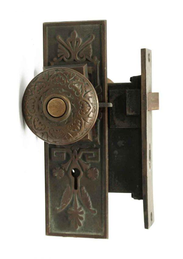 Door Knob Sets - Antique New England Butt Co. Knob Set with Lock