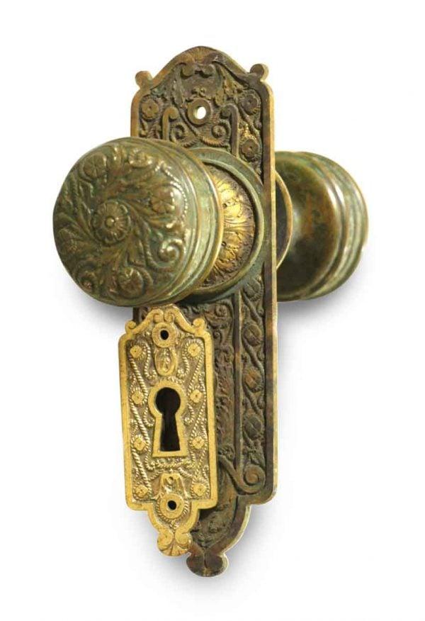 Door Knob Sets - Antique Norwalk Bronze Door Knob Set