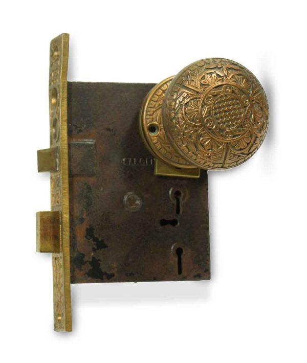 Door Knob Sets - Antique Norwich Entry Door Knob & Lock Set