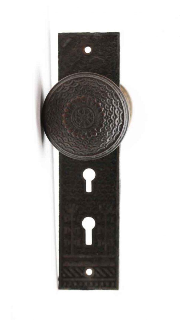 Door Knob Sets - Antique Penn Bronze Daisy Door Knob Set