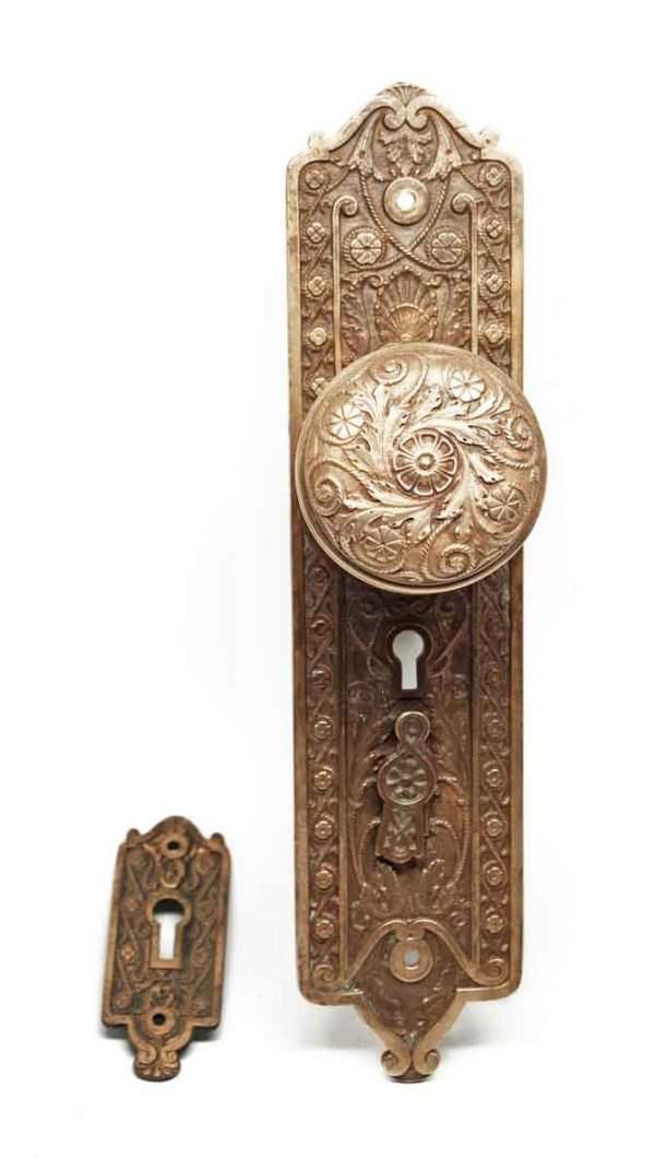 Door Knob Sets - Antique Reading Entrance Door Knob Set