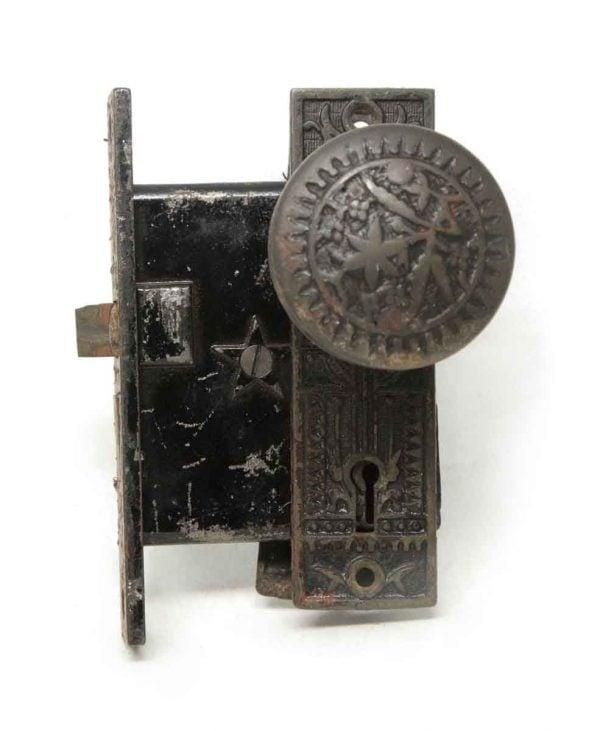 Door Knob Sets - Antique Sargent Vernacular Bronze Door Knob Set