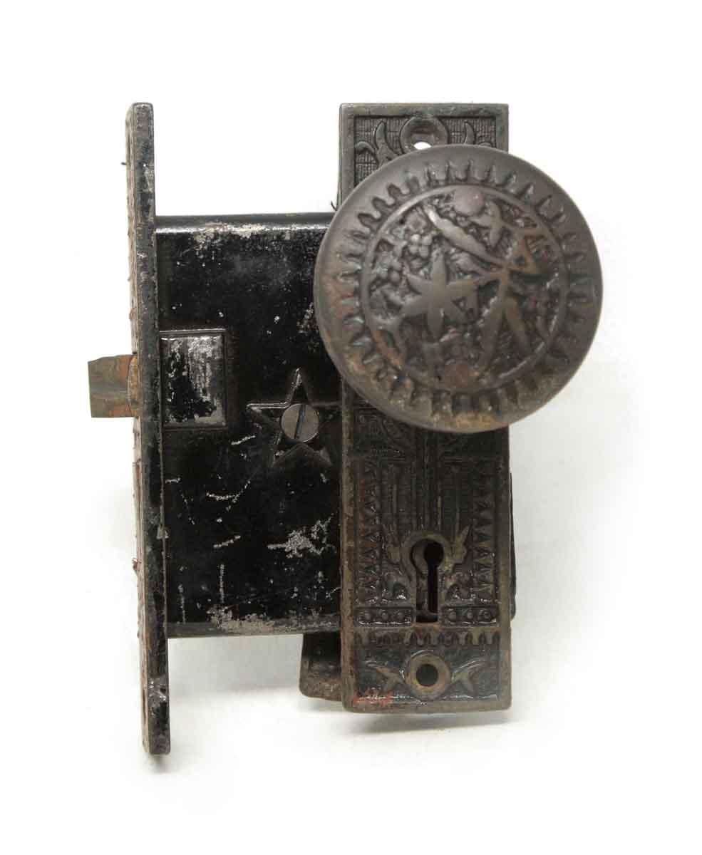 Door Knob Sets   Antique Sargent Vernacular Bronze Door Knob Set