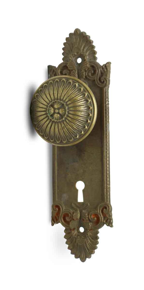 Door Knob Sets - Antique Yale & Towne Greek Door Knob Set