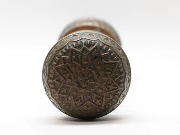 Door Knobs - Antique A.G. Newman Bronze 8 Fold Door Knob Set