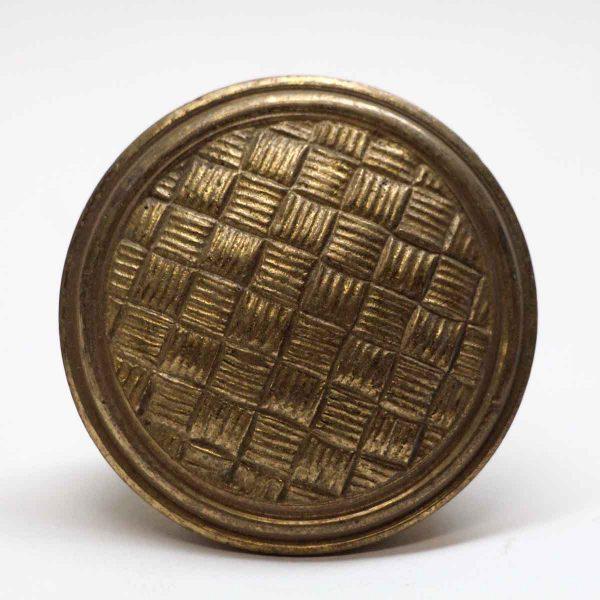 Door Knobs - Antique Brass Weave Door Knob