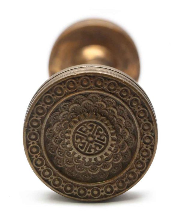 Door Knobs - Antique Bronze Brocade Corbin Entry Door Knob Set
