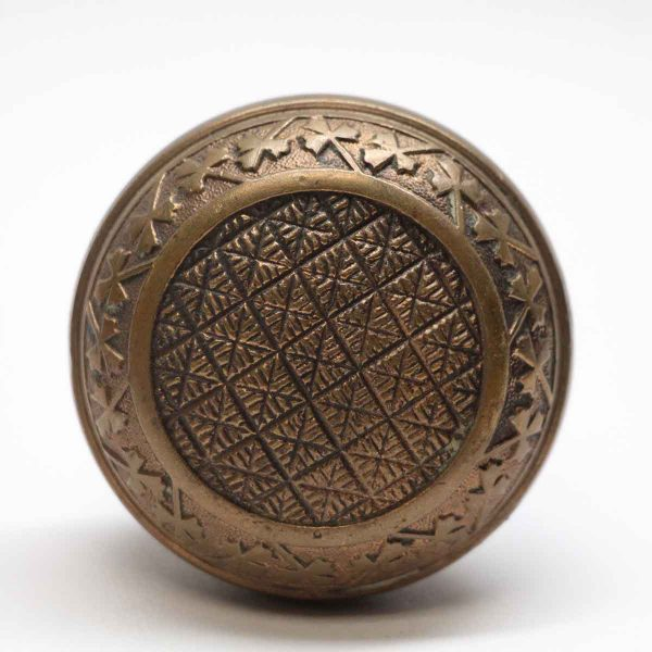Door Knobs - Antique Field Niles Bronze Door Knob