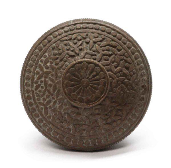 Door Knobs - Antique Vernacular Rice Pattern Bronze Yale Door Knob