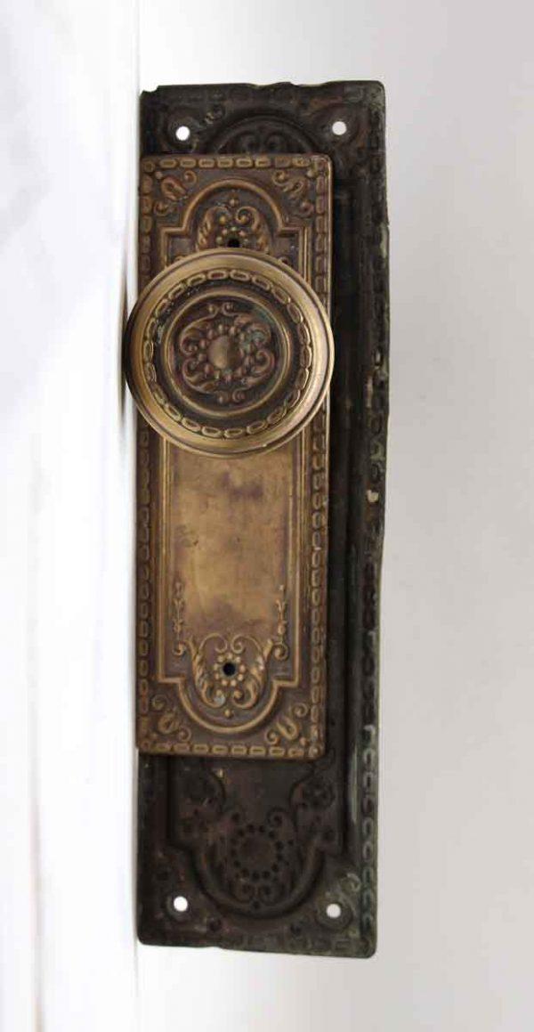 Door Knobs - Aromas Sargent Door Knob Set with Pressed Brass Plates