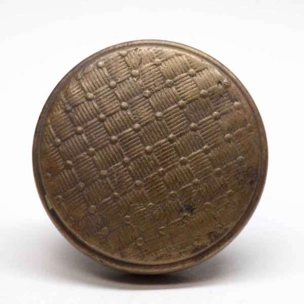 Door Knobs - Bronze Dotted Weave Door Knob