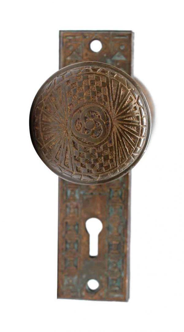 Door Knobs - Bronze Mallory Wheeler Door Knob Set with Back Plates