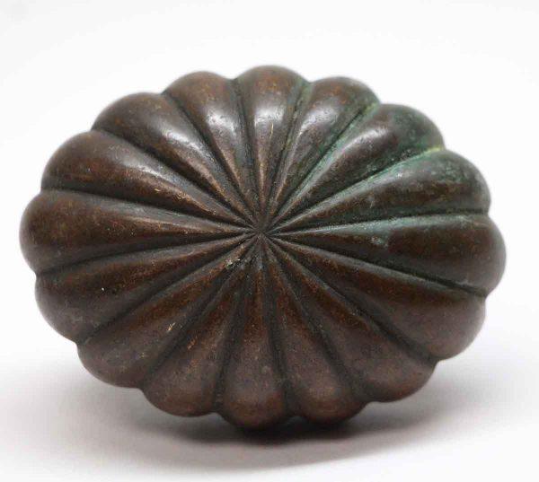 Door Knobs - Cast Bronze Fluted Oval Door Knob