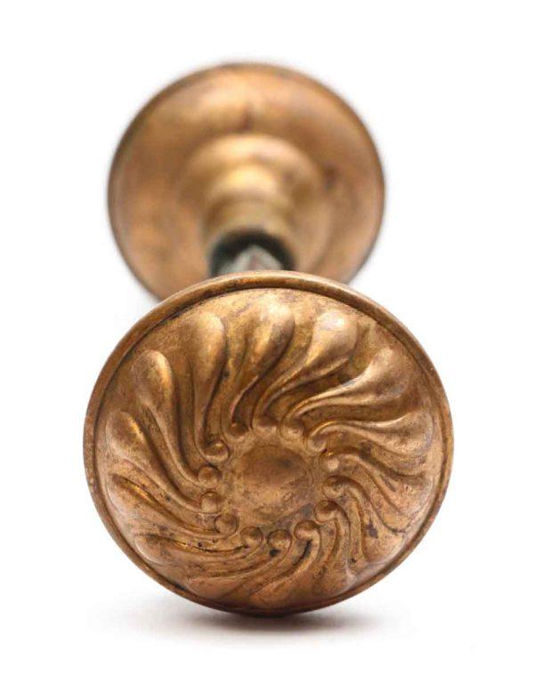 Door Knobs - Corbin Bronze Door Knob Set with Coppery Brass Patina