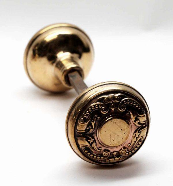 Door Knobs - Polished Brass Flemish Corbin Door Knob Set