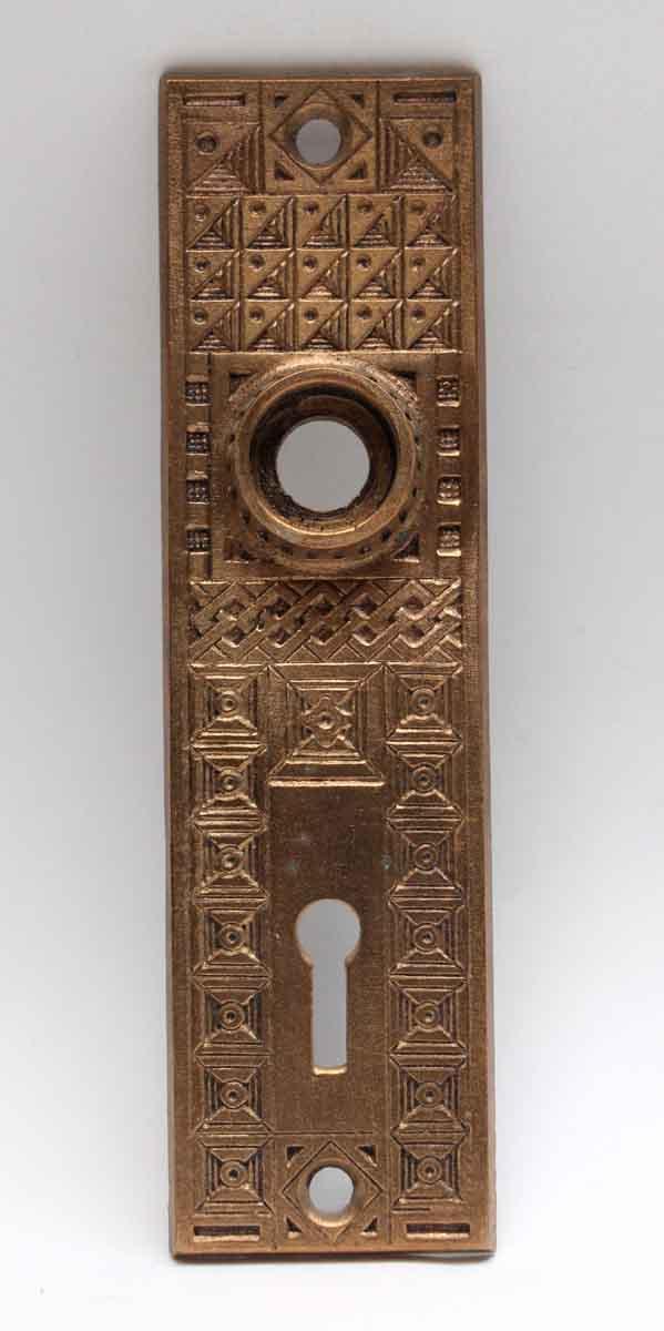 Door Knobs - Polished Bronze Mall Wheeler Door Back Plate
