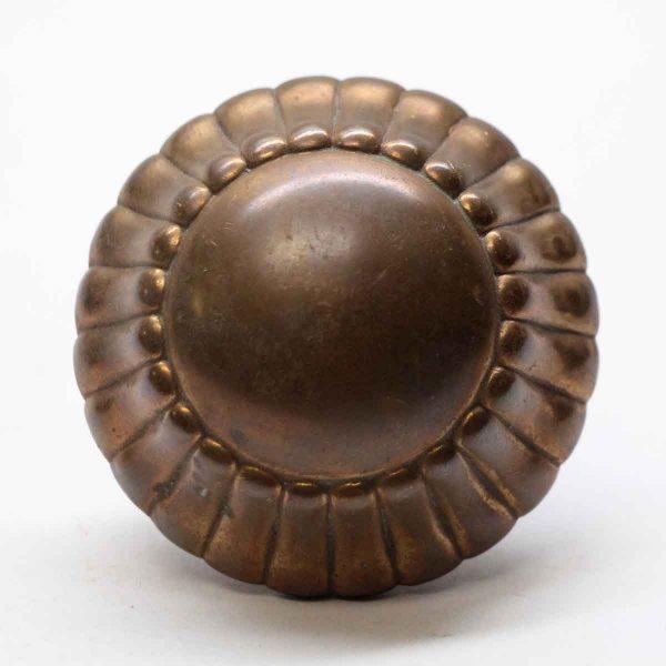 Door Knobs - Single Antique Radial Bronze Door Knob