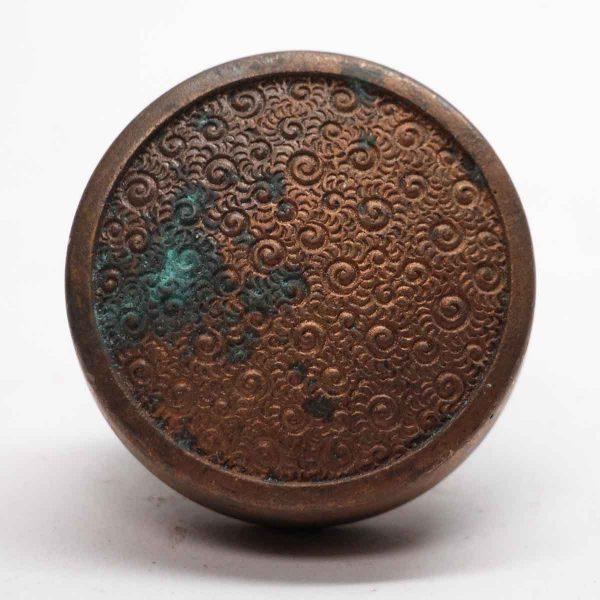 Door Knobs - Swirly Antique Field Bronze Single Door Knob