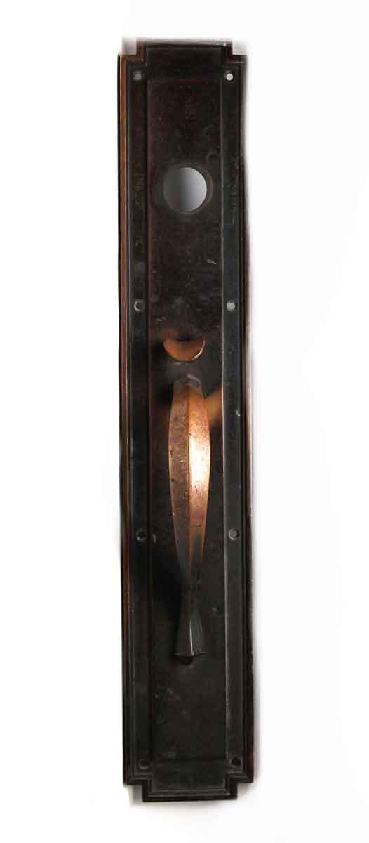Door Pulls - Antique Victorian Dark Bronze Door Pull with Thumb Latch