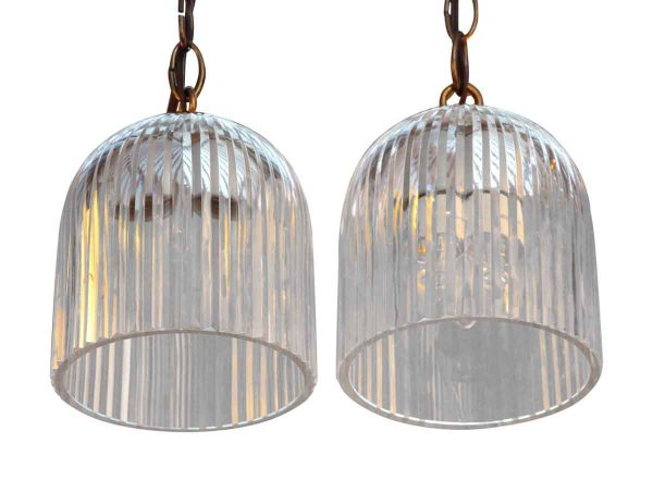 Down Lights - Vintage Glass Bell Shaped Pendant Light
