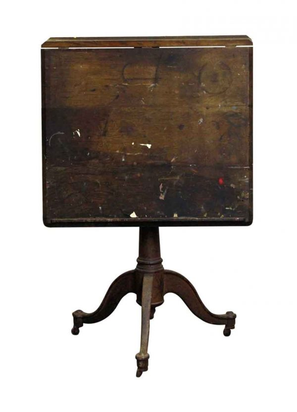 Drafting Tables - Antique Wooden Drafting Table with Cast Iron Base