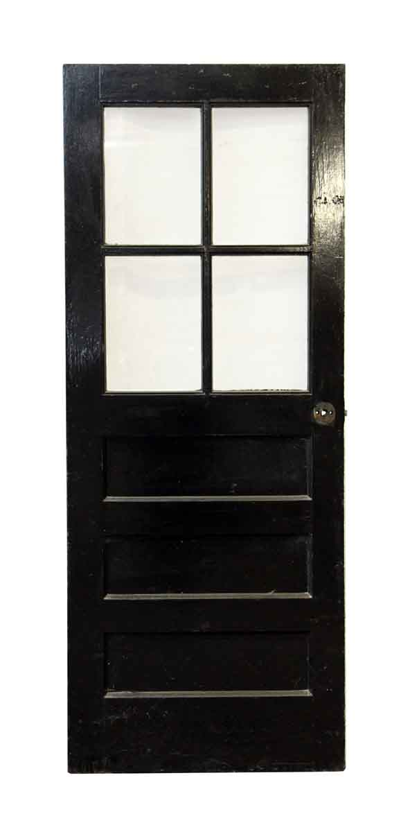 Entry Doors - Salvaged Black & White Wood Entry Door