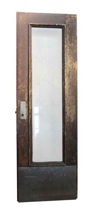 Wooden Door With Narrow Glass Panel