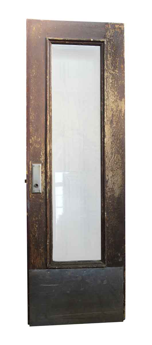 Wooden Door With Narrow Glass Panel Olde Good Things