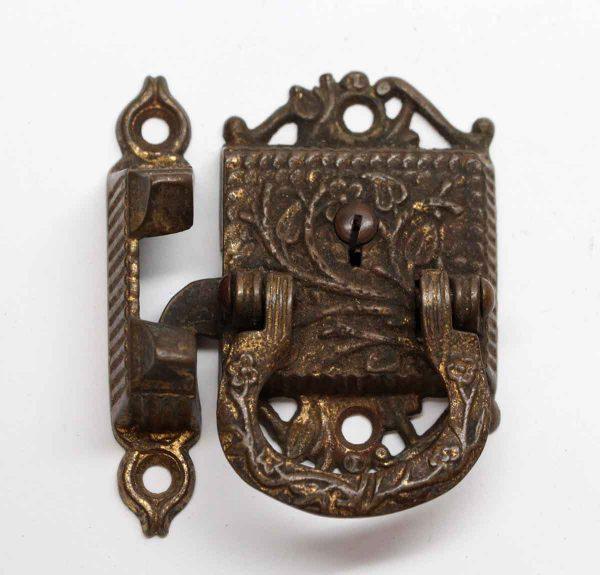 Ice Box Hardware - Antique Dark Bronze Victorian Ice Box Latch