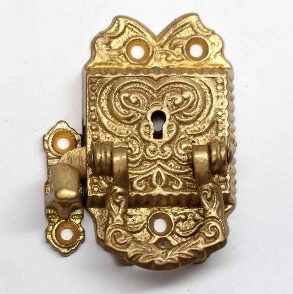 Ice Box Hardware - Gold Gilded Bronze Ornate Ice Box Latch