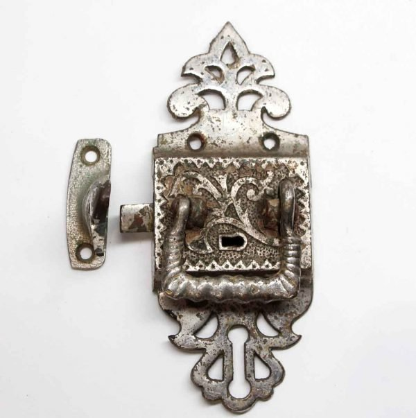 Ice Box Hardware - Nickel Plated Bronze Victorian Ice Box Latch