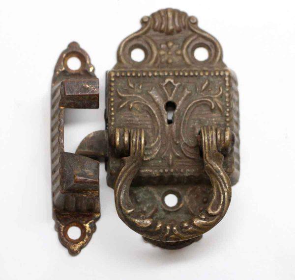 Ice Box Hardware - Victorian Bronze Antique Left Ice Box Latch
