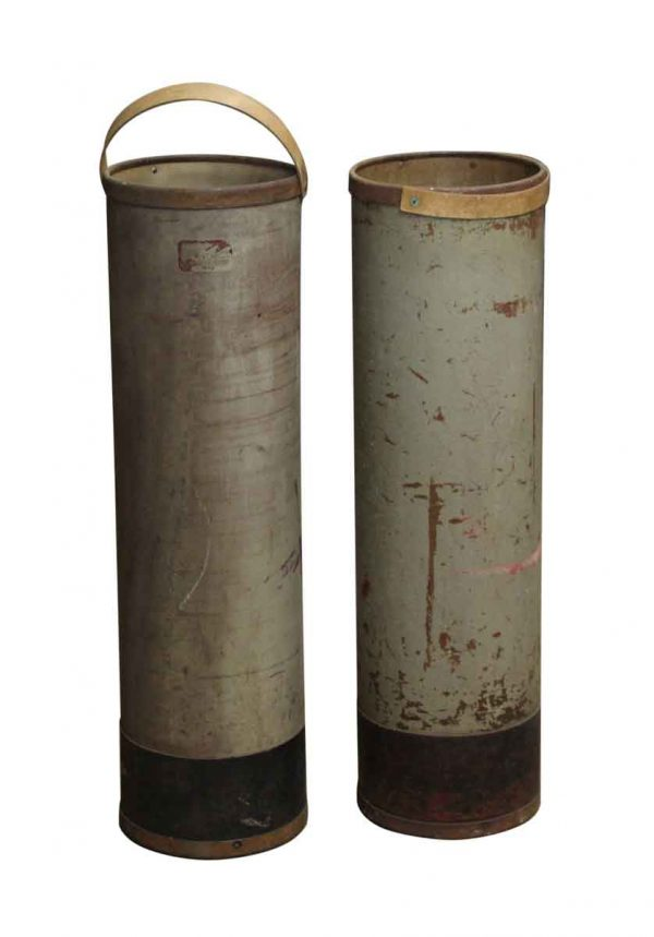 Industrial - Industrial Map or Blue Print Canisters with Handle