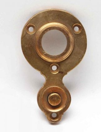 Antique Brass Door Bell Plate With Button