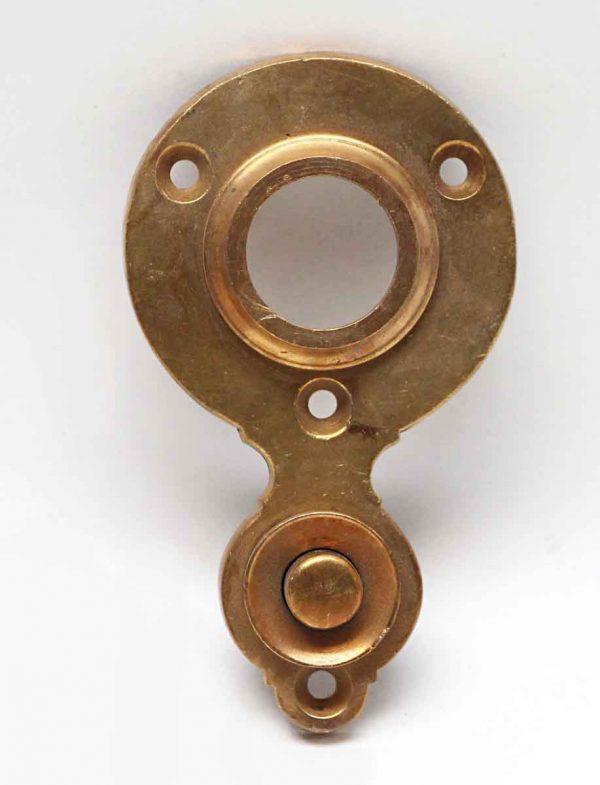 Knockers & Door Bells - Antique Brass Door Bell Plate with Button